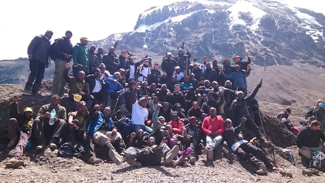 Kilimanjaro mountain climb challengers for HIV/AIDS Project