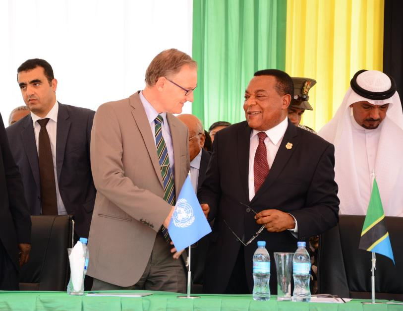 UN Resident Coordinator, Mr. Alvaro Rodriguez and Minister of Foreign Affairs and East African Cooperation, Honourable Dr. Augustine Mahiga