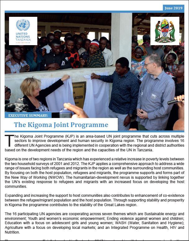 Kigoma Joint Programme Factsheet - June 2019