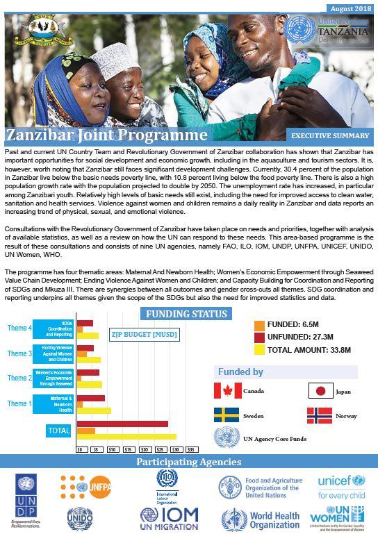 Zanzibar Joint Programme Factsheet - August 2018