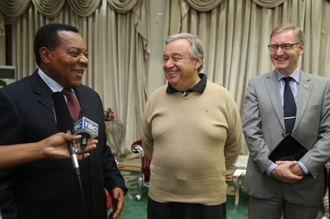 Honourable Dr. Augustine Mahiga; UN Secretary General Antonio Guterres