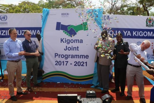 he moment that the Kigoma Joint Programme was officially launched.